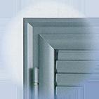 Infissi blindati - Combinato Alluminio Ferro - Dettaglio 1