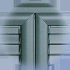Infissi blindati - Combinato Alluminio Ferro - Dettaglio 2